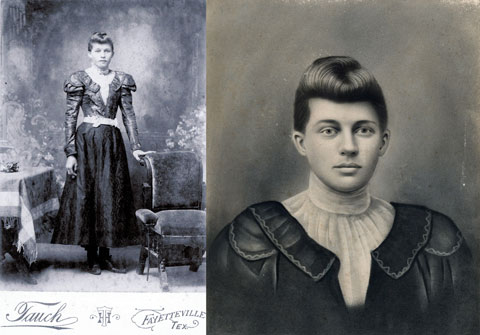 Original and Crayon Portrait of Josephine Heinsohn