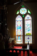 St. Mary's stained glass by Gary McKee
