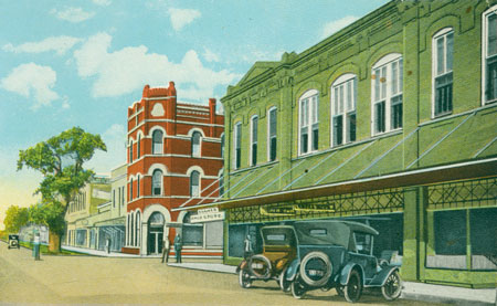 Postcard of Downtown La Grange, 1897