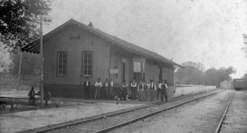 Souther Pacific Depot in La Grange, Texas