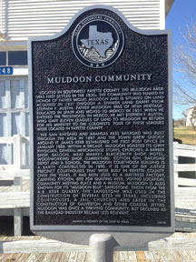 Muldoon Historical Marker