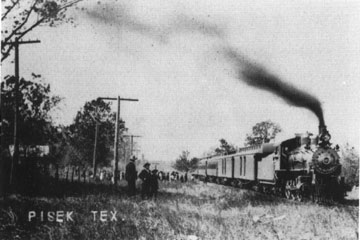 Train Leaving Pisek, Texas